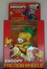 Vintage Peanuts Snoopy Woodstock Friction Wheelie Toy Stunt Cycle NEW IN BOX