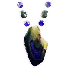 Giant Aurora Agate Necklace Pendant Bead Set Handmade Jewellery Making Kits UK