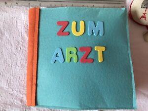 Quiet Book Handgemacht - Lern Buch  Zum Arzt 4 Seiten