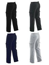 Winter Tex Mens Long Cargo Pants Sweatpants Truck Fleece Lined Waistband M-XXL