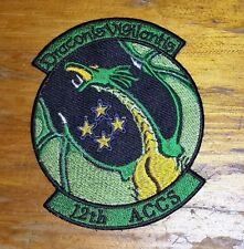 USAF PATCH, 12TH AIRBORNE COMMAND AND CONTROL SQUADRON, GERMAN MADE