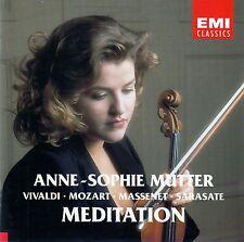 ANNE-SOPHIE MUTTER : MEDITATION - VIVALDI, MOZART, MASSENET, SARASATE / CD