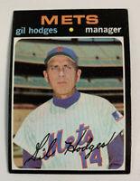 1971 Gil Hodges # 183 New York Mets NY Topps Baseball Card