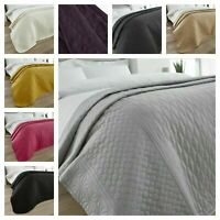 Quilted Bedspread Throw Comforter Luxury Bedding Large Cover Pinsonic Double Bed
