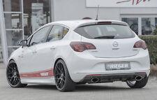 Rieger Heckeinsatz Carbon-Look Sportendrohr li/re für Opel Astra J ab Facelift
