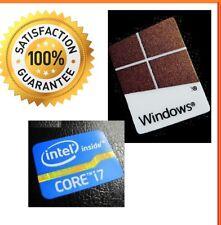 LAPTOP Intel inside Core i7 FREE WINDOWS computer sticker PC 10 Genuine 7 XP 8