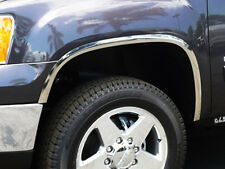 2007-2013 GMC Sierra 1500 - POLISHED STAINLESS STEEL FENDER TRIM [ 1.57in wide ]