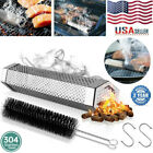 """12""""Grill Smoker Filter Tube BBQ Stainless Steel Outdoor Wood Pellet Pipe Smoke photo"""