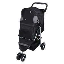 Pet Stroller Dog Cat Puppy 3-Wheel Pushchair Travel Cart Jogging Buggy Carrier