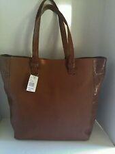 "NWT Croft & Barrow Tote Handbag Purse Brown Faux Reptile Print  Large 14"" Tall"