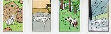 TINTIN ET MILOU LOT DE 4 SUPERBES VIGNETTES CONCOURS BUBBLE GUM AU MIEL RARE (3)