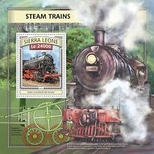 Sierra Leone 2016 MNH Steam Trains Engines Locomotives 1v S/S Railways Stamps