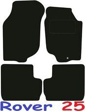 Qualità Su Misura Deluxe Tappetini auto Rover 25 con tacco in metallo nero Pad 1999-2005 **