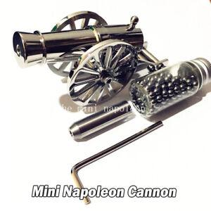 Mini Napoleon Cannon Stainless Steel Classic Warriors Desktop Model Naval Artill