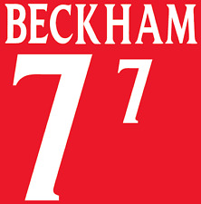 England Beckham 2002 Nameset Shirt Soccer Number Letter Heat Print Football A