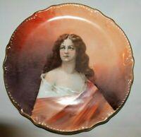 """Antique L.R.L. Limoges ~Signed~ Woman's Portrait Decorative Wall Plate 10.75"""""""