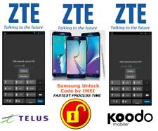 TELUS / KOODO UNLOCK CODE FOR ZTE PHONE ANY CANADIAN MODEL