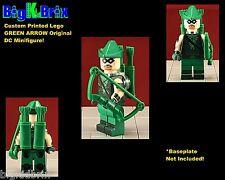 GREEN ARROW original DC Custom Printed LEGO Minifigure w/Custom Bow & Quivers