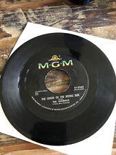 "The Animals House of the Rising Sun 1964 vtg. vinyl 45rpm 7"" original"