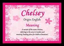 Chelsey Personalised Name Meaning Placemat