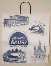 VINTAGE KRAUSS SHOPPING BAG - NEW ORLEANS LA. - FREE SHIPPING
