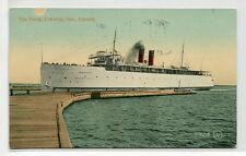Ontario No 1 Car Ferry Ship Cobourg Ontario Canada 1909 postcard
