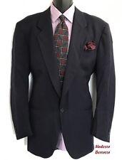 MODESTO BERTOTTO Italy Men's Sport Coat 42R 1 Button Wool Navy Jacket Blazer
