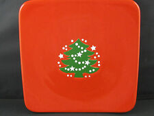 "Christmas Tree Square Salad Plate 8.25"" Waechtersbach German Stoneware NEW"