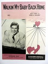 JOHNNIE RAY Sheet Music WALKIN' MY BABY BACK HOME 1950's POP VOCAL Rock N Roll