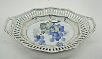 ACS Bavaria Reticulated Dish Bowl Grape Pattern Vintage
