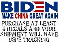 """Joe Biden """"Make China Great Again"""" Bumper Sticker 8.7"""" x 3"""" Bumper Sticker Decal"""