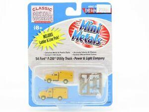 N 1:160 CMW Mini Metals 50290 Power & Light '54 Ford F-350 Utility Truck SEALED