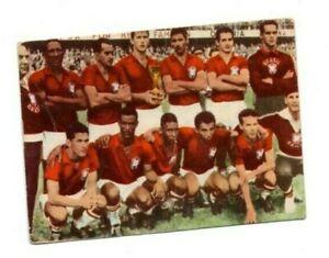 Orig Heinerle Sammelbild Wunderknabe Pele Mannschaftsbild Brasilien WM 1958 Card