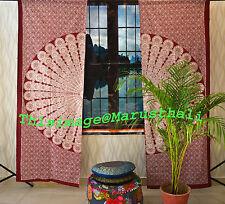 Indian Mandala Door Window Curtains Cotton Drape Balcony Room Decor Curtain Set