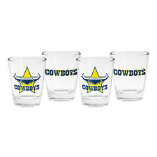 North Queensland Cowboys NRL Shot Glasses **NRL OFFICIAL MERCHANDISE**