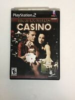 High Rollers Casino PS2 Video Game (Sony PlayStation 2, 2004) CIB w/ Manual