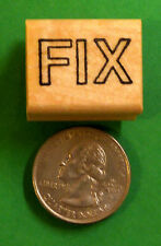 FIX - Teacher's Wood Mounted Rubber Stamp