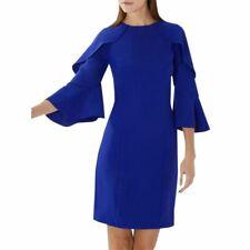Coast Tori Ruffle Tunic Shift Dress Cobalt Blue Size 14   New with Tags RRP £99