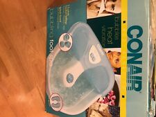 Conair bubbling foot spa with massaging nodes and heat