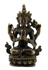Chenrezig-Avalokiteshvara Boddhisattva-Amulette tibetaine en laiton-48mm-W59-318