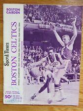 1967 BOSTON CELTICS vs PHILADELPHIA 76ers Program BILL RUSSELL CHAMBERLAIN