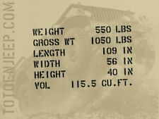 stencil pochoir shipping remorque bantam willys TYPE 2 jeep us