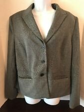 APOSTROPHE Stretch Women's Black and Gray Wear to Work Career Blazer Size 16