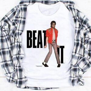 NEW 1984 Michael Jackson Beat It T-Shirt, Michael Jackson Shirt White S-5XL Tee
