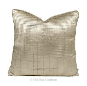 Luxury Designer Champagne Gold Contemporary Satin Cushion Pillow Throw Cover