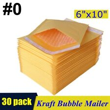 30pcs 0 6x10 Kraft Bubble Mailers Padded Self Seal Shipping Bags Envelopes
