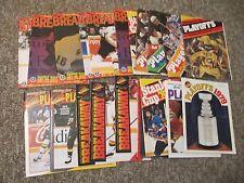 TWENTY FOUR Vancouver Canucks PLAYOFF Programs, 1975-1994, 2011 + Tickets