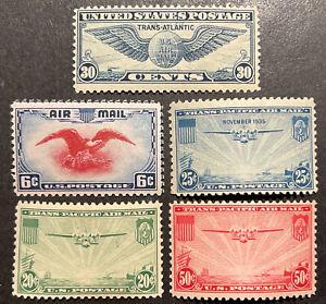TDStamps: US Airmail Stamps Scott#C20-C24 (5) Mint NH OG