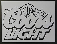 "Coors Light Mountains Beer 8.5"" x 11"" Stencil FAST FREE SHIPPING"