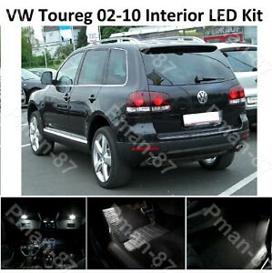 DELUXE VW TOUREG 2002 - 2010 Xenon White Full Interior LED Lights Upgrade Kit